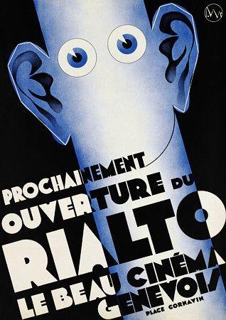 Meuron, J. de Titre / Texte  Prochainement ouverture du Rialto le beau cinéma genevois place Cornavin / Créa. Ateliers Jean de Meuron Commanditaire / Date / Imprimeur  Genève : [s.n.], 1932