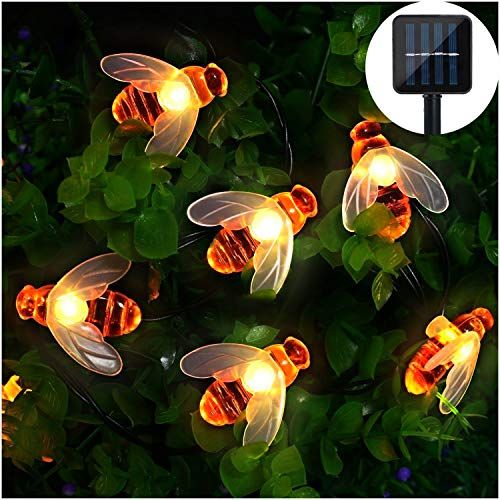 Solar Led Bienen Lichterkette Mr Twinklelight 30 Led Warmweiss Aussen Wasserdichte Lichterkette Dekorative Fur Luzes Solares Do Jardim Luz Solar Fios De Luz Led