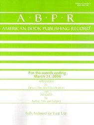 American Book Publishing Record – Monthly
