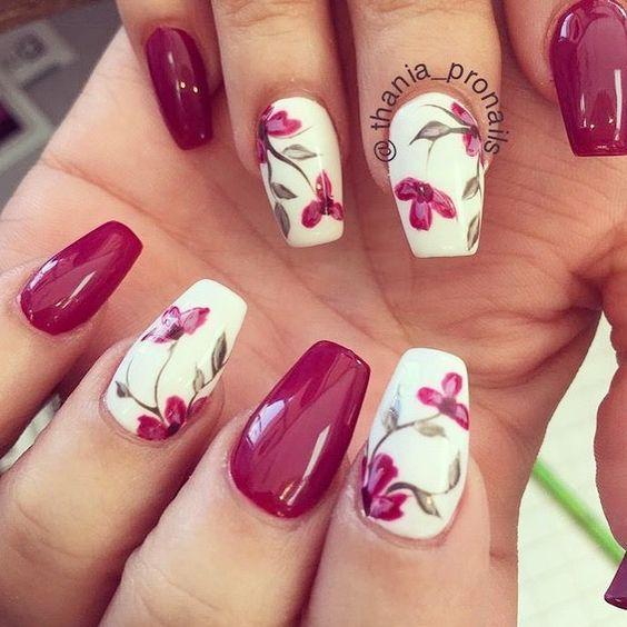 Flower Nails Art Design
