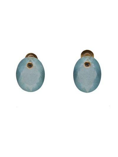 MARIE HELENE DE TAILLAC - Pompadour post earrings 1