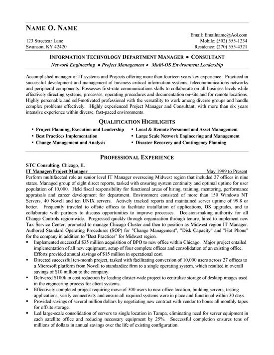 It Consultant Resume Examples It Consultant Resume Examples It