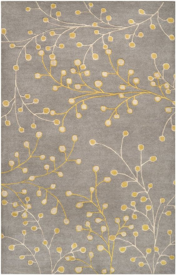 Amazon.com - Surya Athena ATH-5055 Transitional Hand Tufted 100% Wool Flint Gray 4' Round Floral Area Rug - Machine Made Rugs, available at Carpet Center Campbell