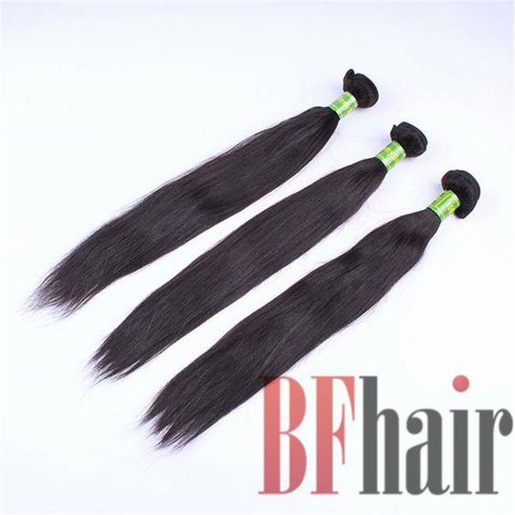 BF Hair 4A Remy Hair Brazilian Straight Hair 3Pcs/Lot Natural Black No tangle - BF Hair