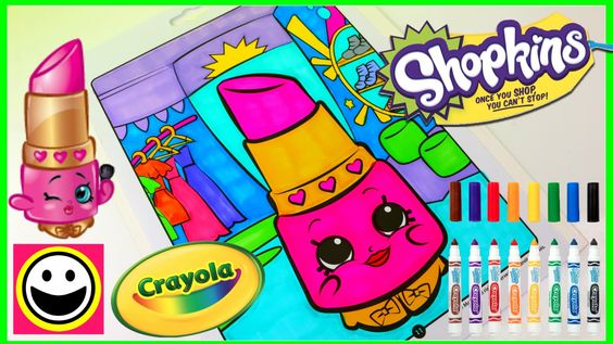SHOPKINS Coloring Pages - LIPPY LIPS - Crayola Coloring Book - Color Wit...