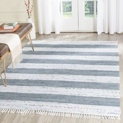 Highland Dunes Yokum Striped Handmade Flatweave Cotton Ivory Gray Area Rug In 2020 Area Rugs Beige Area Rugs Rugs