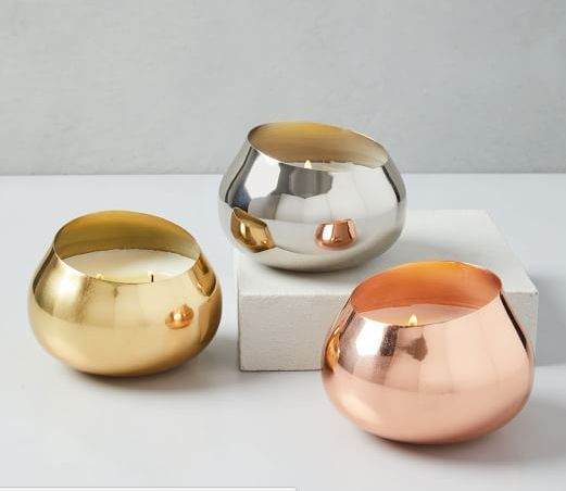 Mixed Metal Votive Holders Silver Gold And Copper Candle Holder Decor Candle Decor Glass Candleholders
