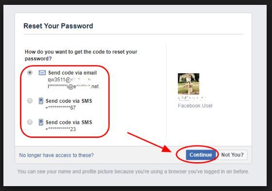 Reset Facebook Password Reset Facebook Password With Email Or