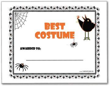 Halloween Costume Contest Award   party ideas   Pinterest ...