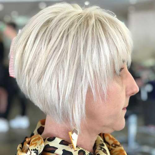 25 Super Bob Haircuts For Women Over 50 Bob Haircut And Hairstyle Ideas Ageless Hair Hair Color For Women Bob Haircut Back View