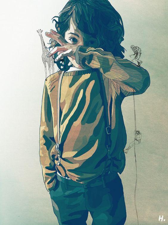 Graphik(H) is an illustrator and designer based in France