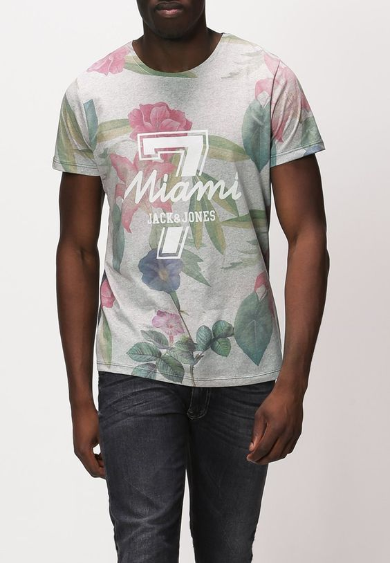 Jack & Jones - JJNEW POPULAR - T-shirt imprimé - gris