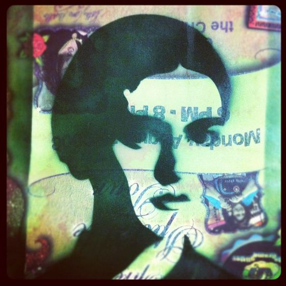 Test spray of my jumbo-sized Frida stencil!