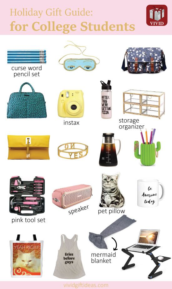 22 Unique Holiday Gifts For College Students College Girl