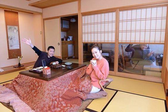 kotatsu in Winter #nasu #rentacar #rental #car #trip #travel #hotsprings #tochigi #tokyo #japan #japankuru #winter #resort #body #soul #snow #omaru #onsen #openair #bath #coed #friend #ryokan #kotatsu