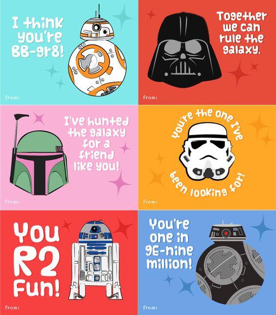 Star Wars Valentines For School | Valentines for boys | free printable valentine cards #starwarsfans #disney #disneystarwars #valentinesforkids #simpleeverydaymom #TheForceAwakens #TheLastJedi #RogueOne