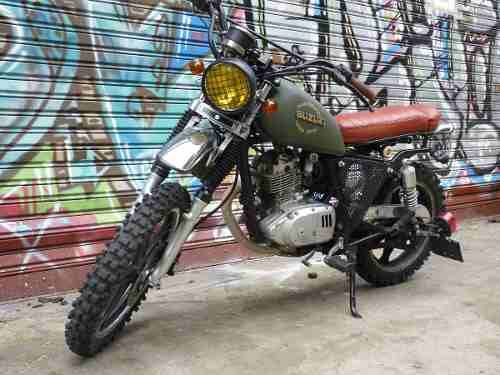 suzuki gn 125 tracker scrambler cafe racer motos. Black Bedroom Furniture Sets. Home Design Ideas