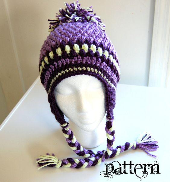 The Talini Teen/Adult Crochet Hat PDF PATTERN - Instant Download ♥ by www.etsy.com/shop/TheNeedleNerd