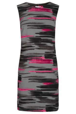 Pink Brush Print Dress from Next