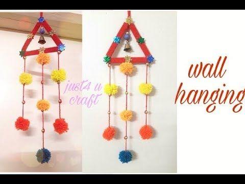 Wall Hanging Diy Icecream Stick Hanging Wall Hanging Diy Crafts