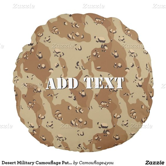 Desert Military Camouflage Pattern Round Pillow Mona Lisa Pirate Captain With a Mustache Round Pillow  #Gravityx9 #Zazzle #HomeDecor #camouflage4you