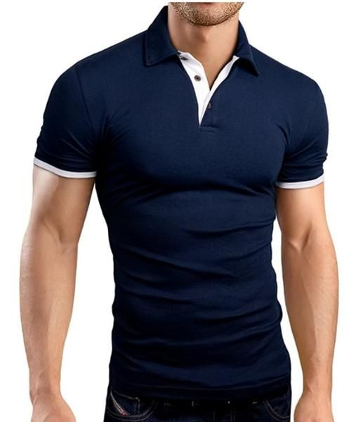 2018 New Men/'s Summer Slim Fit Short Sleeve Shirts Cotton T Shirt Blouse