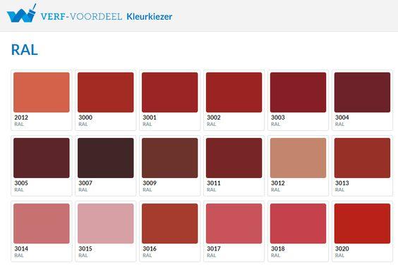 Verf voordeel laat u inspireren door de kleuren rood for De laat interieur