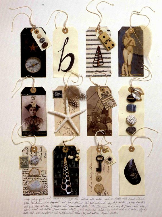 Amazing intricate tags that could dress up even the most simple of gift wrappings.