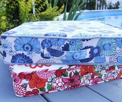Awesome cushion cover tutorial, including nifty trick for making your own bias tape. Doing this on our van!: Recover Cushion, Box Cushion