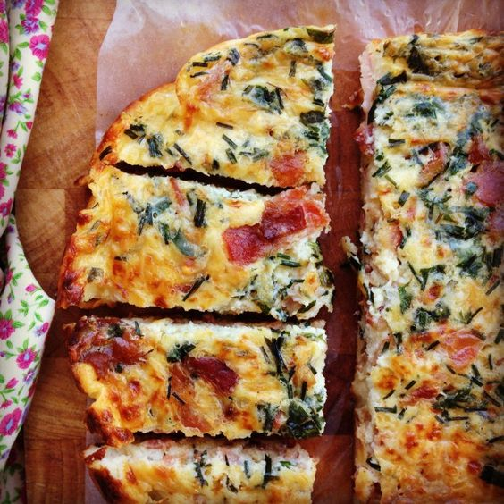 bacon herb and cheese impossible pie