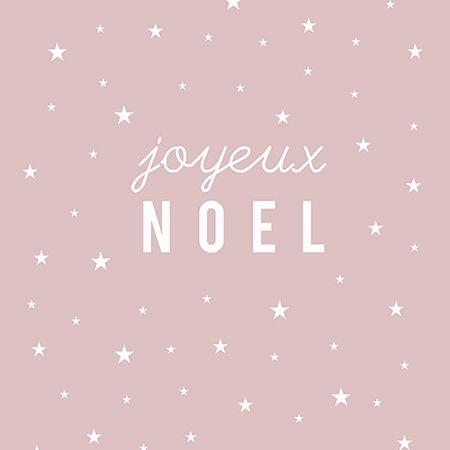 """Carte Postale """"Joyeux No&euml;l"""" (&eacute;toile/ROSE POUDR&Eacute<img src=""""http://dingo.care2.com/c2c/emoticons//wink.gif"""" border=0>"""