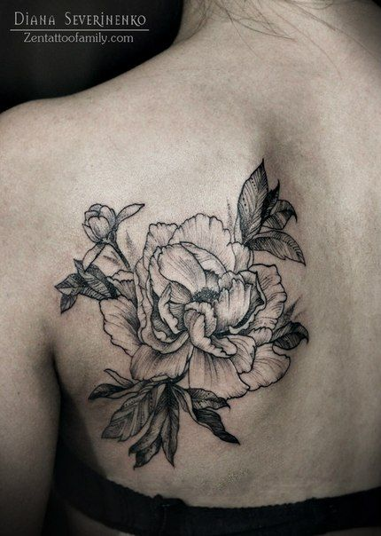 diana peony flower and back tattoos on pinterest. Black Bedroom Furniture Sets. Home Design Ideas