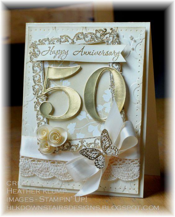 Anniversaires de mariage 50e anniversaire and cartes d for 50e anniversaire de mariage robes en or