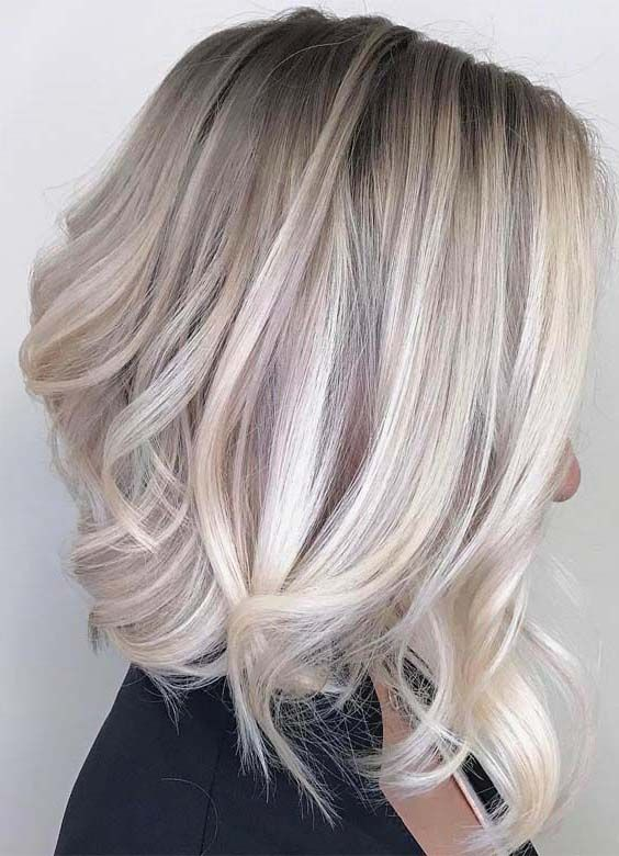 50 Amazing Ash Blonde Hairstyles For Medium Length Hair 2018