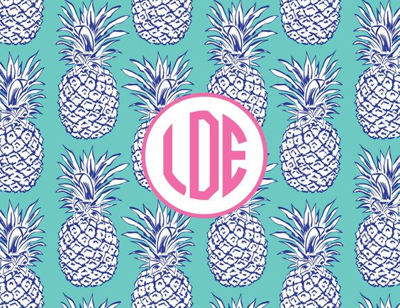 A Pineapple a Day Pattern Acrylic Lucite Tray-8.5x11