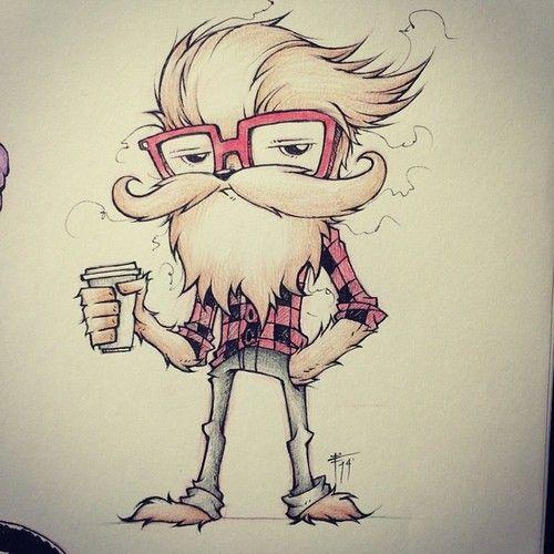 Hipster Wookie. http://nanobit66.tumblr.com/