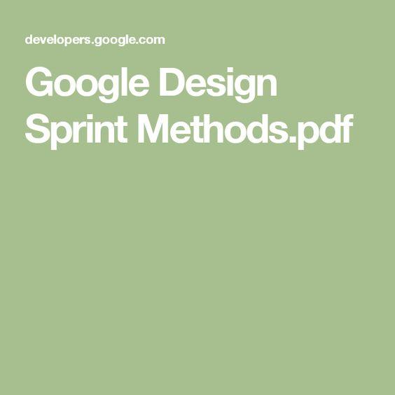 Google Design Sprint Methodspdf Design Genius Pinterest   Sprint Customer  Care  Sprint Customer Care