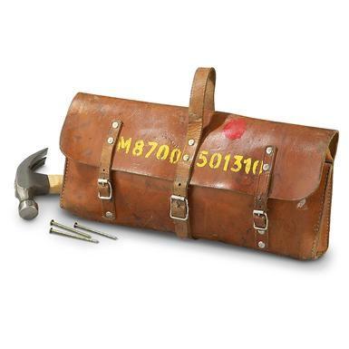 Used Swedish Leather Mail Bag