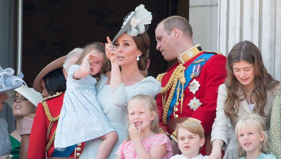 Princess Charlotte Falls On Balcony & Kate Middleton Rescues Her – Hollywood Life