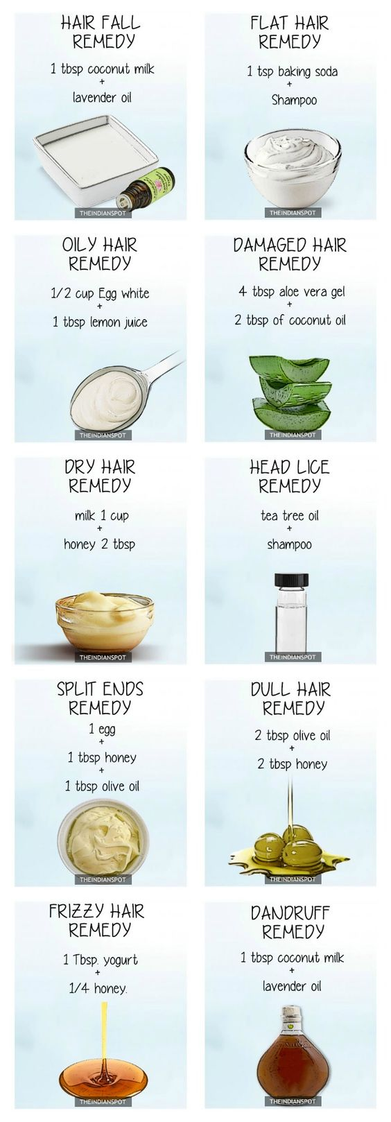 TOP 10 NATURAL REMEDIES FOR EVERY HAIR PROBLEM: