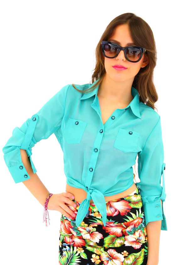 Passion Blouse in Ocean