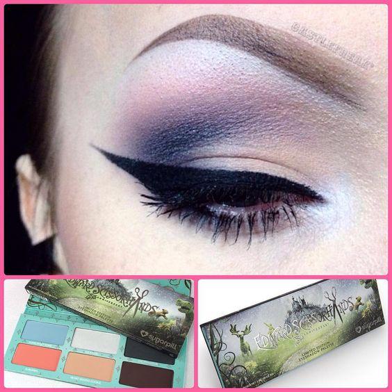 Such a gorgeous look by @castlefreak using her #sugarpill x #edwardscissorhands eyeshadow palette!