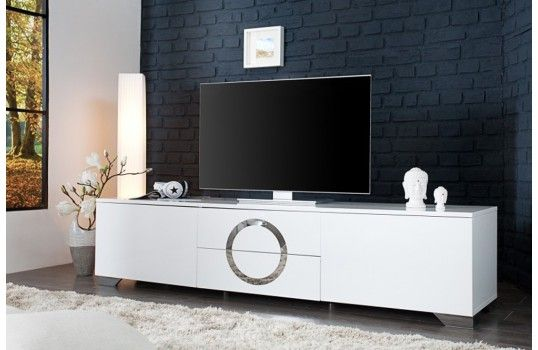 Meuble TV design blanc Eva 180 cm