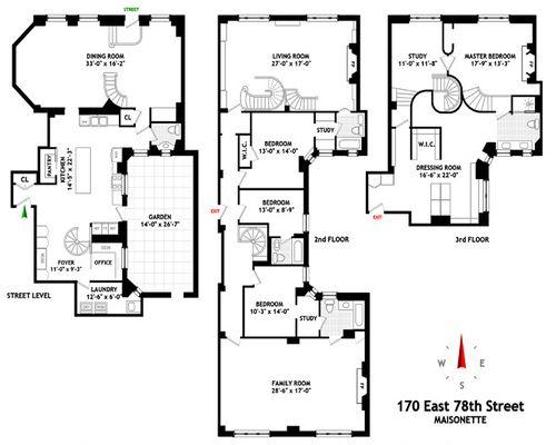 th St NYC Triplex DD apartment floorplan   WOWZA bling     th St NYC Triplex DD apartment floorplan