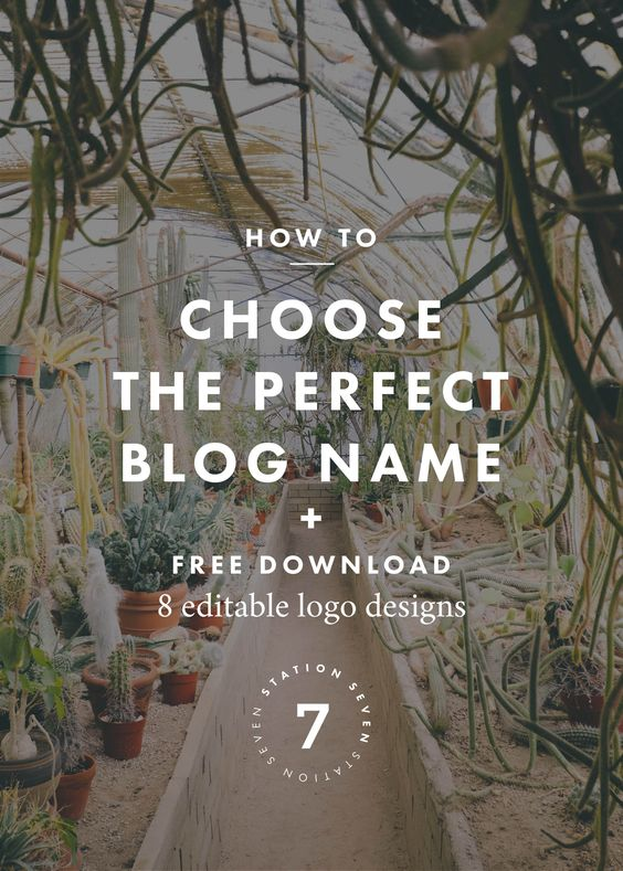 How to Choose the Perfect Name for Your Business or Blog + Free Logo Templates. Not sure how to name your blog? Check out our 5 steps for picking a name. Plus we have free editable logo templates.