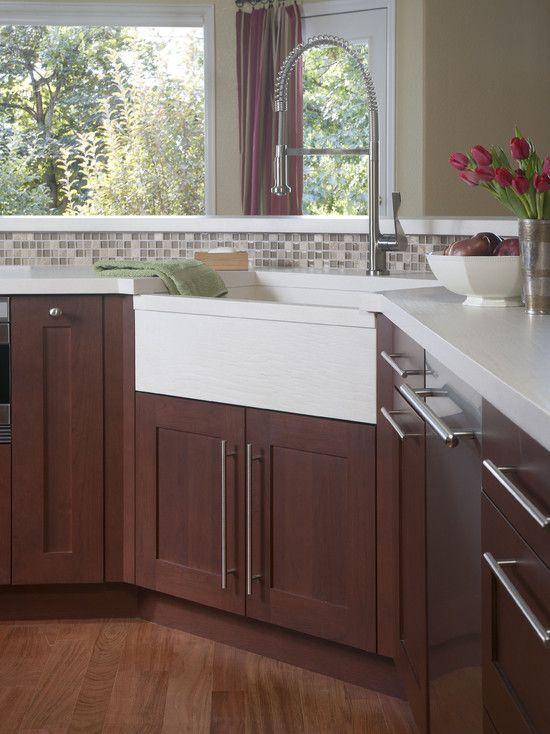 Corner sink, Sinks and Small kitchen designs on Pinterest