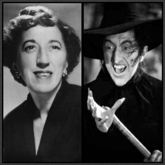 Margaret Hamilton- The Wicked Witch of the West.