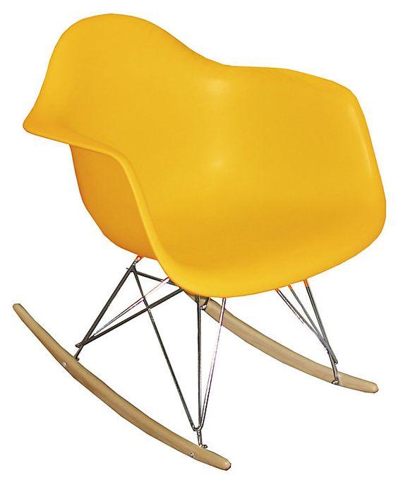 One Kings Lane - Loft Living - Stockholm Rocking Chair, Yellow