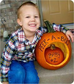 baby announcement with pumpkin - Google Search