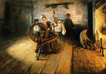 Spinning by Firelight - The Boyhood of George Washington Gray - Henry Ossawa Tanner - The Athenaeum